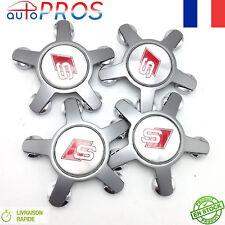 4 PCS Sline Logo Center De Roue AUDI CACHE MOYEUX Pour A3 A4 A5 A6 A7 A8 Q5