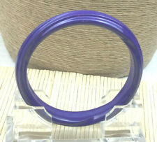 Fashion Bracelet Lucite Purple Ribbed Swirl Bangle
