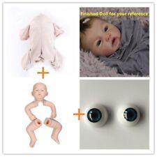 Unpainted Reborn Doll Kit (head,limbs,Eyes and cloth body) Newborn Model Set DIY