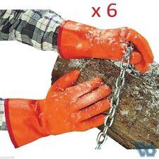 Reg. $220 - 6 Pairs NEW Polar Grip PVC Dipped Gloves ANSELL EDMONT Model 23-700