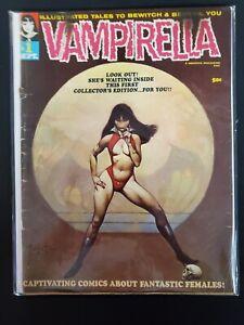 Vampirella #1 GD- (1969) Warren Magazine Book