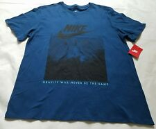 """Men's Nike Air """"Gravity Will Never be the Same"""" Athletic T-Shirt, Size XL, Blue"""