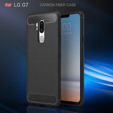 Handy Hülle für LG G7 ThinQ Case Schale TPU dünn schwarz + 2.Haut Schocksicher