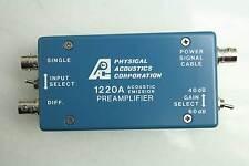 Physical Acoustics 1220A 200H Acoustic Emission Preamplifier 40-60dB 28 Volt