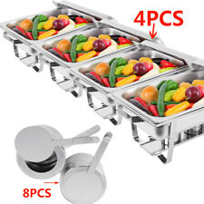 4 X 9L Chafing Dish Sets Buffet Caterings Stainless Steel Folding Food Warmer