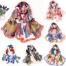Femmes Imprimé à Pois Long Uni Écharpe Mode Foulards Mousseline de Soie