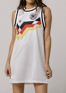 ADIDAS Germany National Soccer Team #10 Tank Dress White Black Red NEW Womens S