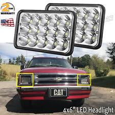 "Pair 4x6"" LED Hi/Lo Headlight Bulb For Chevy Camaro GMC Dodge Ford Jeep Kenworth"