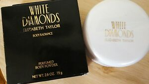 WHITE DIAMONDS Perfumed BODY POWDER/ Elizabeth Taylor 2.6 oz ~ New in Box!