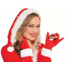 RED & WHITE FAUX FUR CHRISTMAS GLOVES ADULT HOLIDAY ACCESSORY