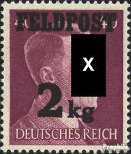 Dt. Feldpost 2.WK 3 (kompl.Ausg.) Gefälligkeitsentwertung gestempelt 1944 Päckch