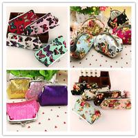 Women Girls Small Wallet Change Coin Purse Hasp Clutch Card Holder Handbag