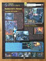 Resident Evil 3: Nemesis Single Page Preview PS1 1997 Vintage Print Ad/Poster
