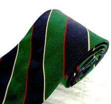 BROOKS BROTHERS 100% Silk Tie Necktie Regimental Stripes in Blue Green Gold Red