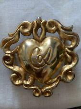 Boucle de ceinture Christian Lacroix en forme de cœur