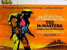 McMASTERS 1970 Burl Ives, Brock Peters David Carradine Nancy Kwan UK QUAD POSTER