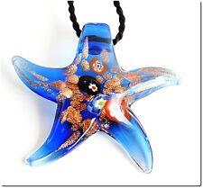 Bijou pendentif étoile verre style murano millefiori bijou mode lampwork glass
