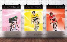 The grand tours print collection. Tour de France. Vuelta, giro