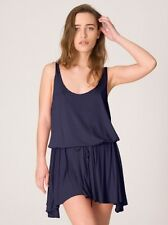 American Apparel drawstring navy blue tank mini dress SZ M/L  New