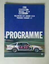 More details for race programme wellington new zealand  nissan 500 series jan - feb 1986  a13