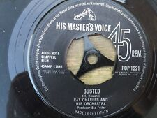 """Ray Charles, Busted/ Making Believe 7"""" vinyl, 1963"""