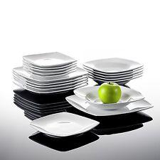 18X JULIA Porcelain Crockery Ceramic China Dinner Set Dessert Soup Plate Kitchen