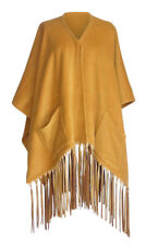 Hermes Shawl Leather Fringe Poncho Style Vintage MINT