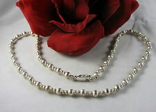 """Sterling Silver Italy 18"""" Sparkling Beaded 19g Necklace FERAL  CAT RESCUE"""