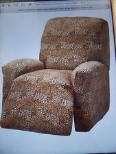 LEOPARD COVERS FOR RECLINER  SOFA COUCH LOVESEAT CHAIR-STRETCHES FOR A TIGHT FIT