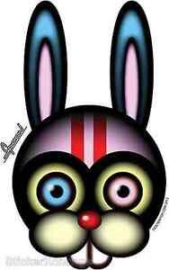 Race Rabbit Sticker Decal Chico Von Spoon CVS6