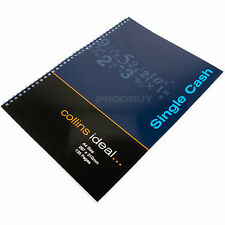 Collins Ideal A4 120 Page Single Cash Column Book Accounts Book Keeping Ledger
