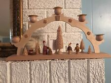 """New Straco FLYING BUTTRESS Can't Candle Arch 15"""" Hand Made Erzgebirge"""