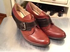 Liz Claiborne Liz Two Tone Brown Leather Ankle Boots Size 8M VGUC