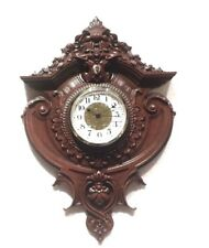 """Hand Carved Wall Clock Face 13-3/4"""" x 9-1/4"""" x 1-1/2""""Thick With CLOCK FIT UP"""
