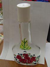 """Flasche mit Glasmalerei- ohne Inhalt  mit Aufschrift """"SchlehenFeuer"""" auf Kappe"""