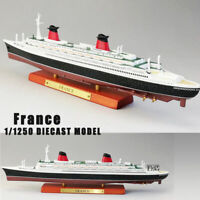 Diecast ATLAS FRANCE Cruise Ship Model 1:1250 Scale Collectible Boat Toys Gift
