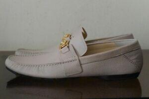 VERSACE Men's Beige Leather Moccasins Loafers Sz. 11 (45)