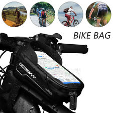 Waterproof MTB Mountain Bicycle Frame Front Cycling Bag Bike Mobile Phone Holder