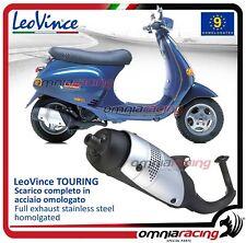 Leovince TOURING - Escape Completo acero aprobado para VESPA 50 ET2