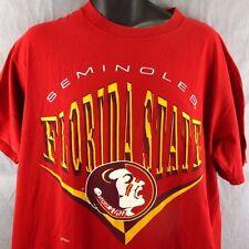 Florida State Seminoles Vintage T-Shirt XL Red Tee 1990's USA Made NCAA Nutmeg