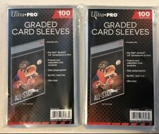 200 Ultra Pro Graded Card Sleeves Resealable Strip Bags New No PVC