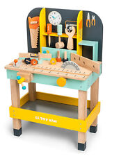 NEW Le Toy Van Alex's Tool Work Bench Incl Nuts Bolts & Tools Wooden Wood Toy