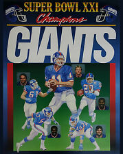 New York Giants - Super Bowl XXI Poster - 8x10 Color Photo