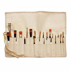 Liquidraw Paint Brush Holder Roll Up Canvas Bag Storage Case 30 Pocket Pouch
