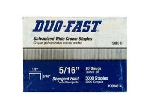 "5010-D Duo-Fast Staples 1/2"" CROWN - 5/16"" LEG LENGTH Divergent Point 5000/box"