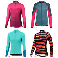 Women Long Cycling Jersey MTB Bike Shirt Jacket Clothing Ride Sports Top Tight