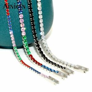 304L Stainless Steel 2~3mm Tennis Bracelet CZ Setting Unisex Jewelry
