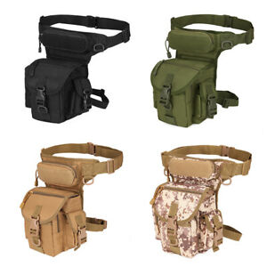 Motorcycle Men Military Drop Leg Bag Tactical Hip Thigh Utility Waist Fanny Pack
