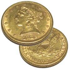 Antique Estate 1882 $5 Five Dollar Gold Liberty Half Eagle Coin