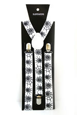 Spider Web Halloween Adjustable Braces Suspenders Mens Womens Fancy Dress 2.5cm